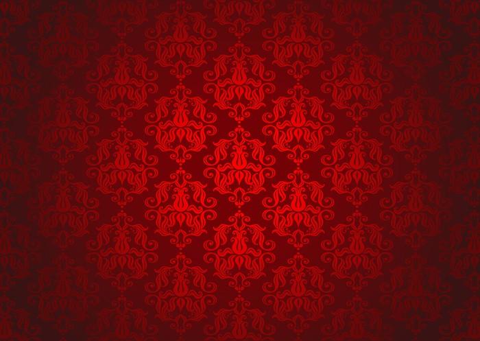 papier peint luxe motif rouge d 39 ornement pixers nous vivons pour changer. Black Bedroom Furniture Sets. Home Design Ideas
