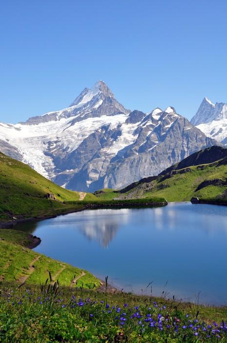 Carta da parati paesaggio di montagna pixers viviamo for Carta da parati per casa in montagna