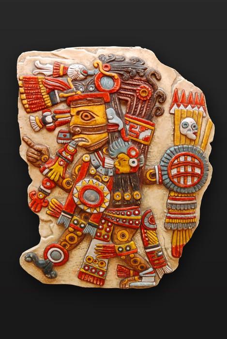 Vinylová Tapeta Kamenný bůh Tezacatlipoca synové Ometeotl Latinské Americe - Amerika