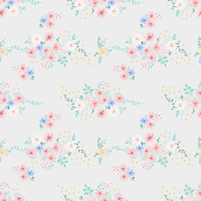 Papier peint Élégant motif tendance doux dans une fleur à petite ...