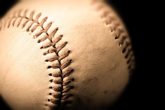 Vinylová Tapeta Fotografie sépie baseballu - Sportovní potřeby