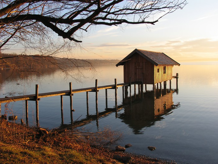 Ammersee Vinyl Wallpaper - Europe