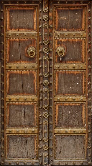 Ancient wood door wall mural pixers we live to change for Door wall mural
