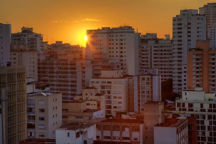 Vinylová Tapeta Twilight ve městě Sao Paulo - Jiné