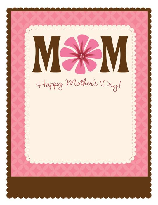 Fototapete 8.5x11 glückliche Tag der Mutter Flyer / Poster-Vorlage ...