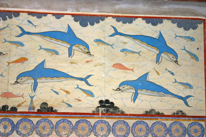 Dauphins knossos wall mural pixers we live to change for Dolphin mural knossos