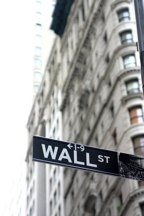 Leinwandbild Wall street sign - Themen