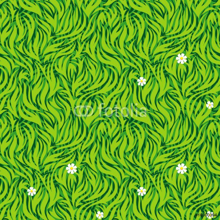 Vinylová Tapeta Bezešvé vzor zelené trávě. Vector vrstvami. - Přírodní krásy
