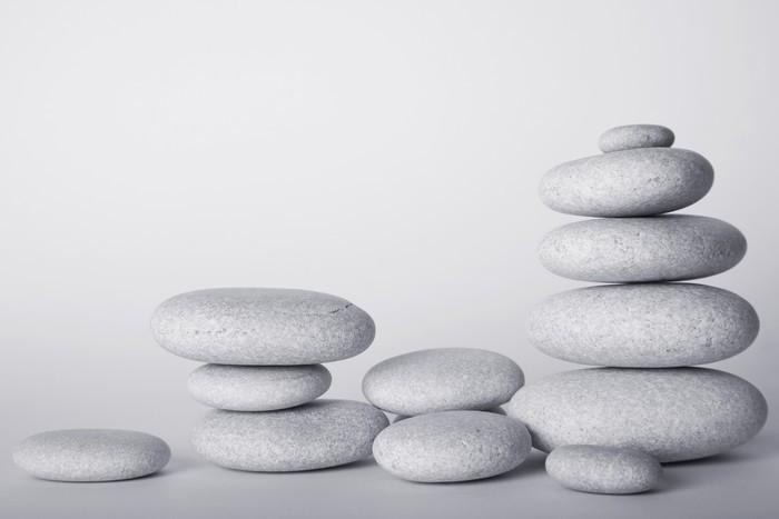 piedras zen blancas vinyl wall mural health and medicine - Piedras Zen