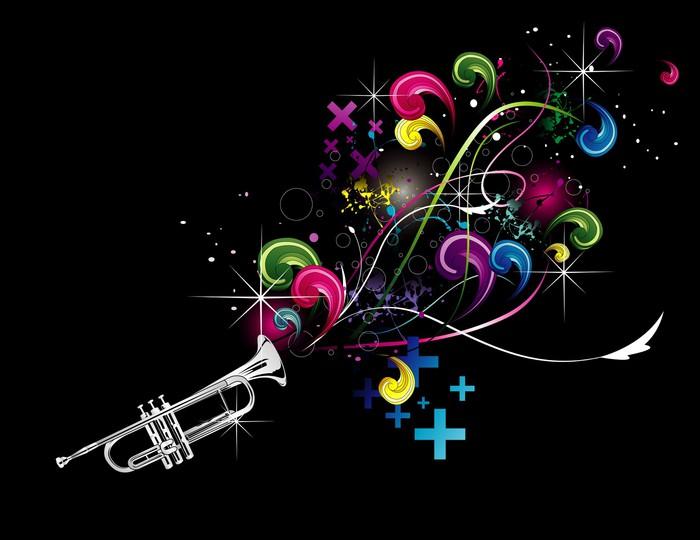 Vinylová Tapeta Trumpeta en vektor - Hudba