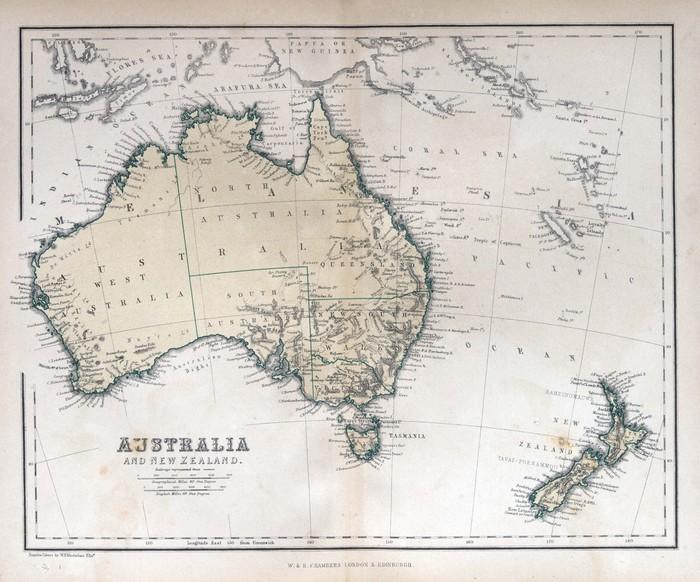 australien gammal karta Dekor Gammal karta av Australien • Pixers®   Vi lever för förändring australien gammal karta