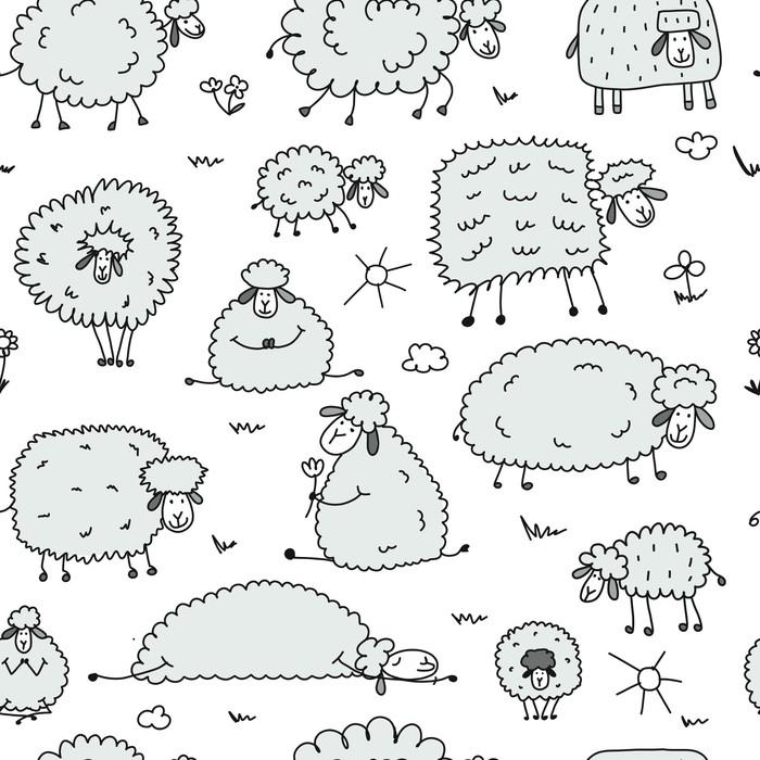 Znalezione obrazy dla zapytania rysunek stado owiec