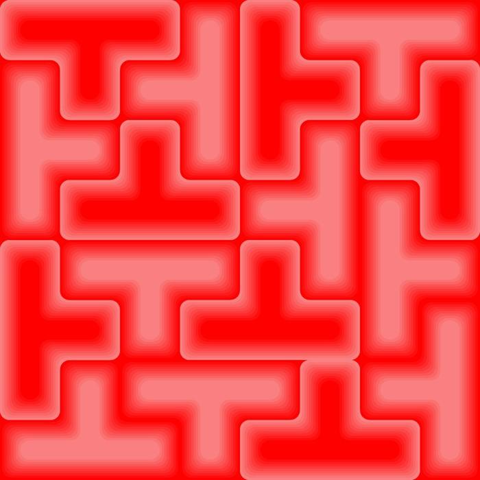 Vinylová Tapeta Red 3d dlaždice - bezešvá vektorová vzor - Umění a tvorba