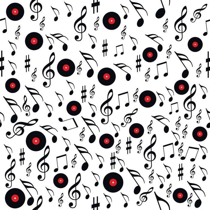 Vinylová Tapeta Bezešvé vzorové hudby - Grafika