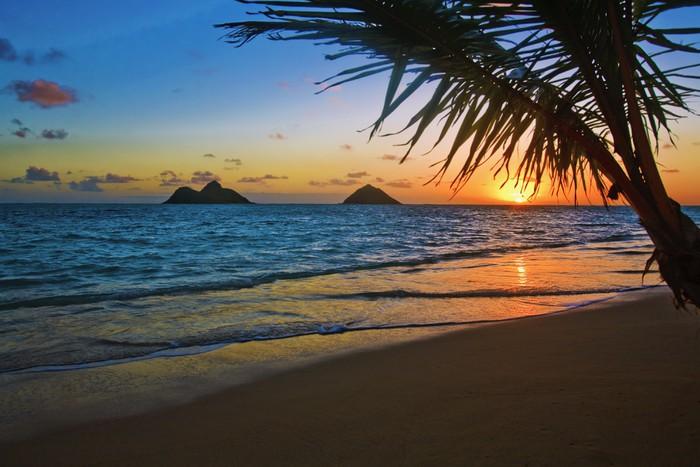 pacific sunrise at lanikai beach hawaii wall mural pixers we