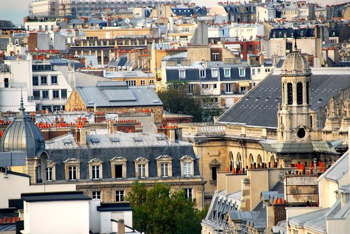 Vinylová Tapeta Paris střechy - Město