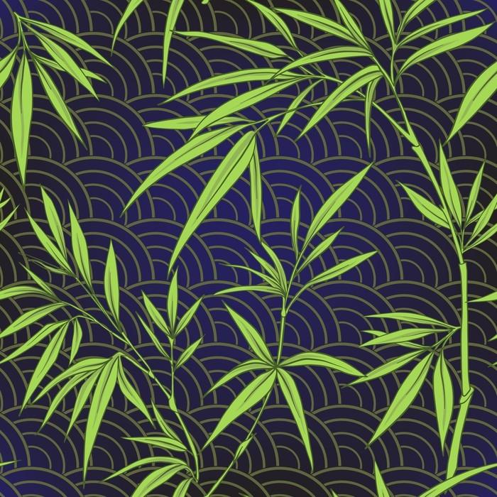 tapete nahtlose muster mit bambus bl ttern und zweigen im japanischen stall pixers wir. Black Bedroom Furniture Sets. Home Design Ideas