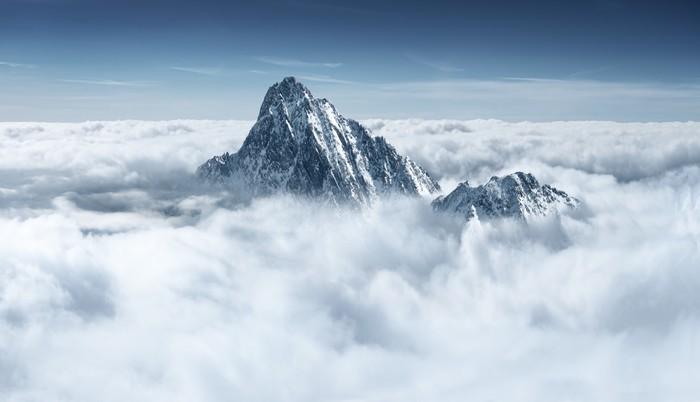 Tableau sur Toile Montagnes dans les nuages - Thèmes