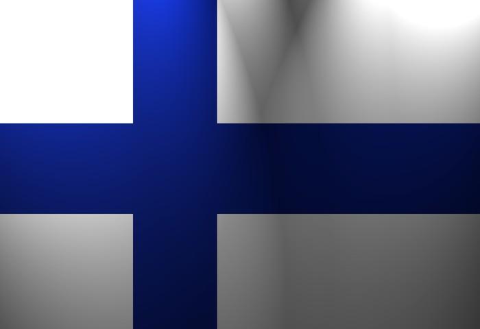 Vinylová Tapeta Vlajka Finska -