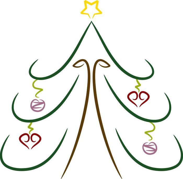 Vinilo Pixerstick Dibujo coloreado simple: Navidad • Pixers ...