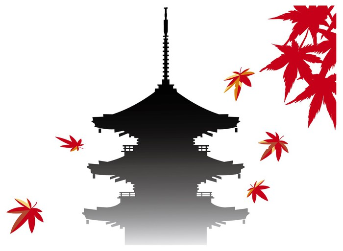 Vinylová Tapeta ???? japantemple - Prázdniny