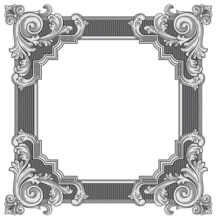 Vinylová Tapeta Ozdobná rám vektor - Značky a symboly