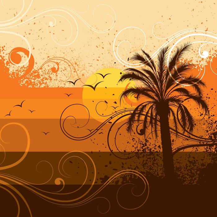 Papier peint arbre palmier pixers nous vivons pour - Papier peint motif arbres ...