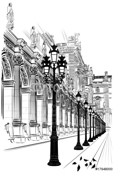 Paris: Classical architecture Wall Mural - Vinyl - Themes
