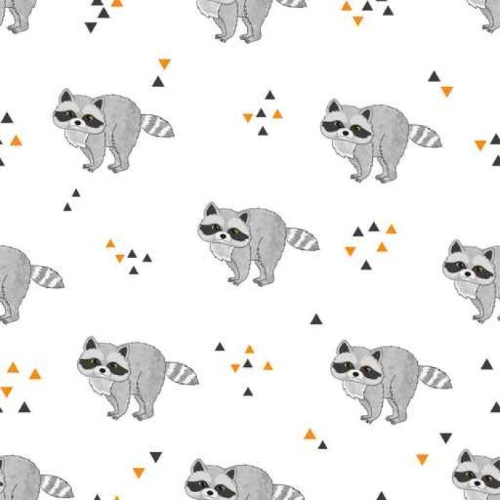 Vinilo Pixerstick Patrón de vector inconsútil con lindos mapaches ...