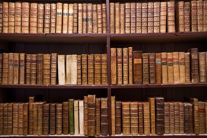 Carta da parati biblioteca pixers viviamo per il for Carta da parati libreria