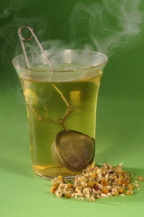 Vinylová Tapeta Zelený čaj - Horké nápoje