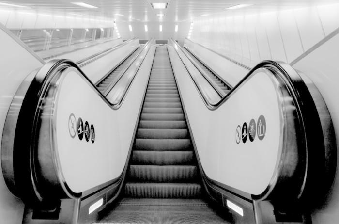 Vinylová Tapeta Eskalátor - Soukromé budovy