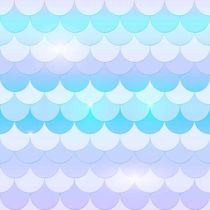 papier peint belle queue de sir u00e8ne  texture de poisson au pastel  couleurs douces  bleu  rose et
