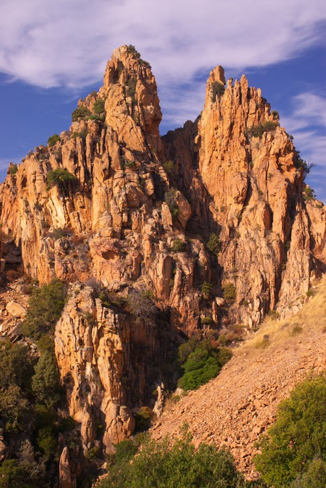 rock formations of Calanche de Piana Vinyl Wallpaper - Mountains