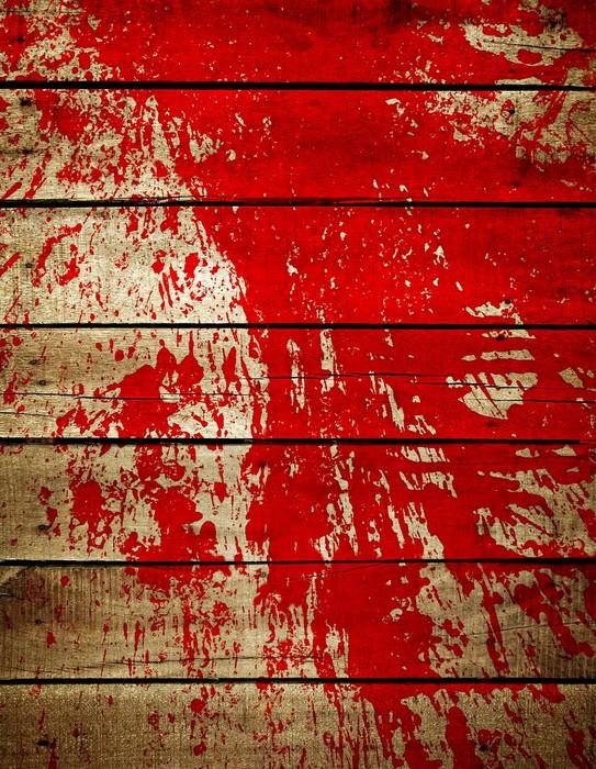 Fotomural salpicaduras de pintura roja sobre tabla de madera pixers vivimos para cambiar - Salpicaduras de pintura ...