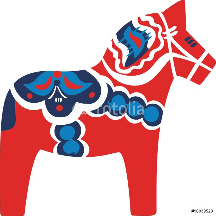 Dalarna Pferd dala pferd rot sticker pixers we live to change