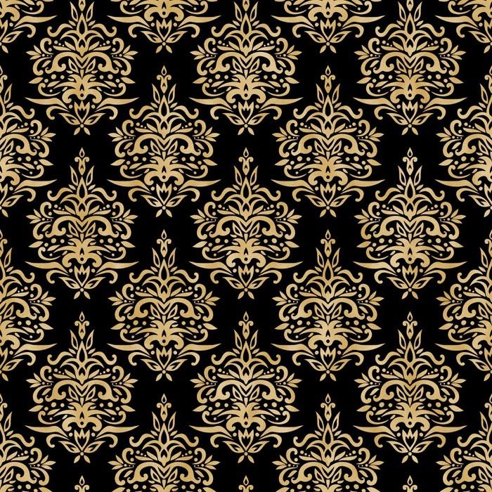 Papier Peint A Motifs Damasse Transparente Motif Texture Noire Et