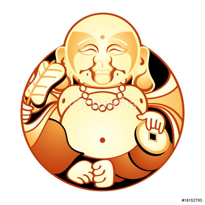 Vinylová Tapeta Hotei, Japonsko Lucky Bůh spokojenost a štěstí - Nálepka na stěny