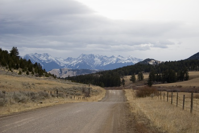 Vinylová Tapeta Montana country road - Venkov