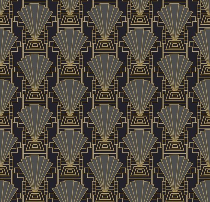 Fototapete Art Deco Tapete oder Vorlage. Art Deco Rahmen Hintergrund ...