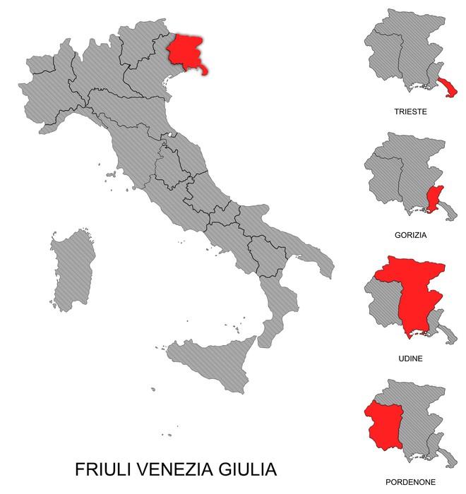 Friuli Venezia Giulia e province Wall Mural Pixers We live to