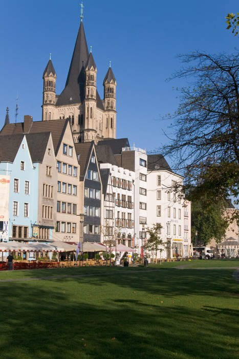 Vinylová Tapeta Altstadt von Köln, Frankenwerft, Groß St. Martin - Památky