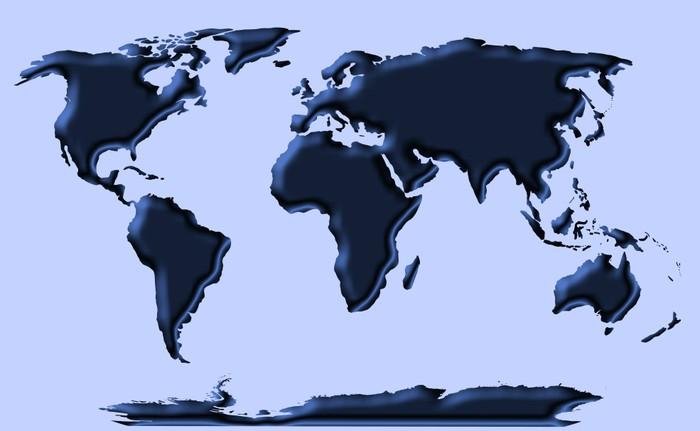 Vinylová Tapeta Modrý svět - Doplňky a věci