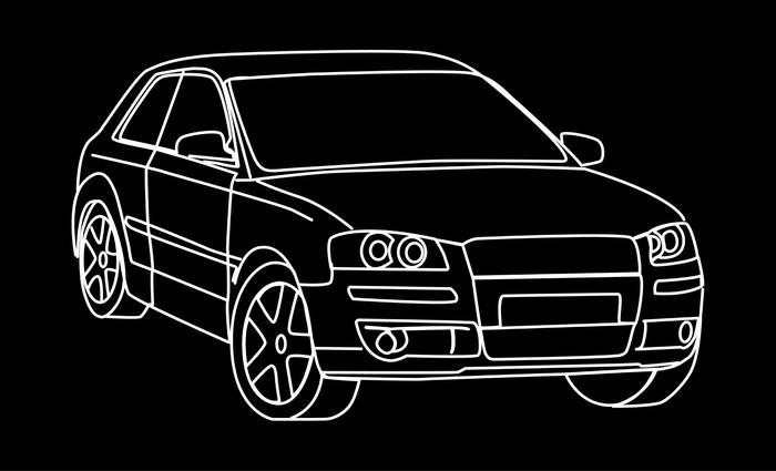 Fototapete Skizze Auto • Pixers® - Wir leben, um zu verändern