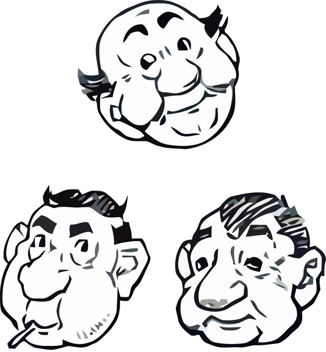 Drawings of mens comic portraits vectors pixerstick sticker body parts