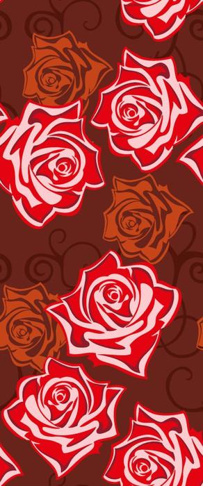 Vinylová Tapeta Červená růže 玫瑰 - Štěstí