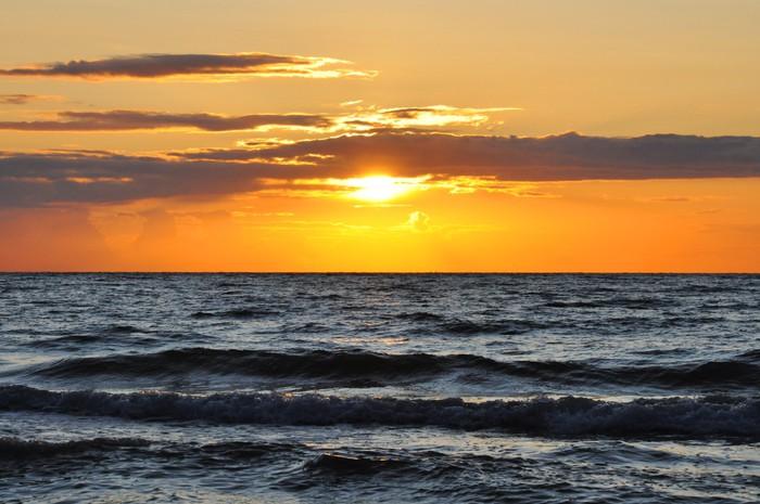 Vinylová fototapeta Západ slunce na moři - Vinylová fototapeta