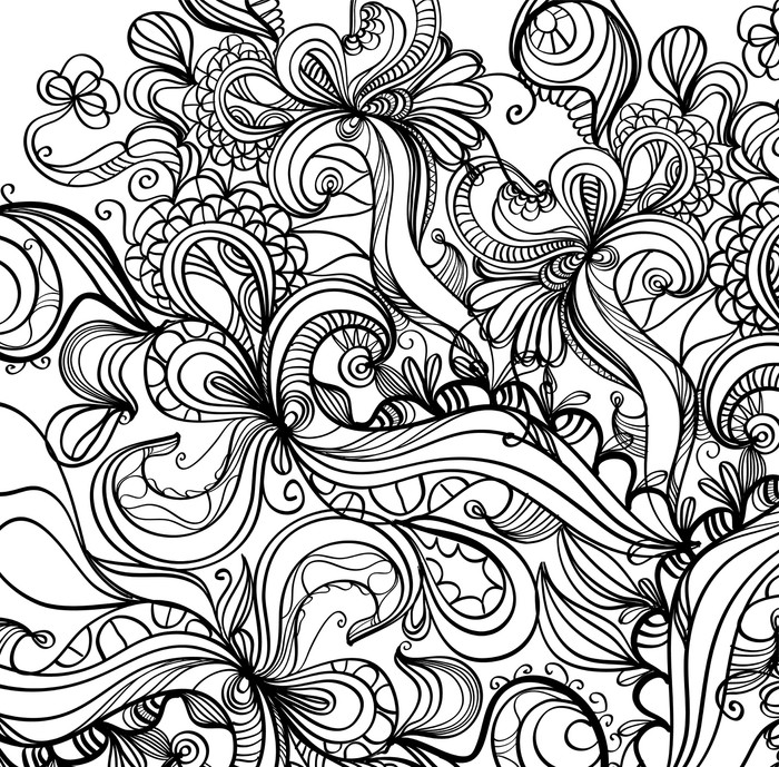 Retro psychedelic doodle background sticker pixers we for Poster psichedelici