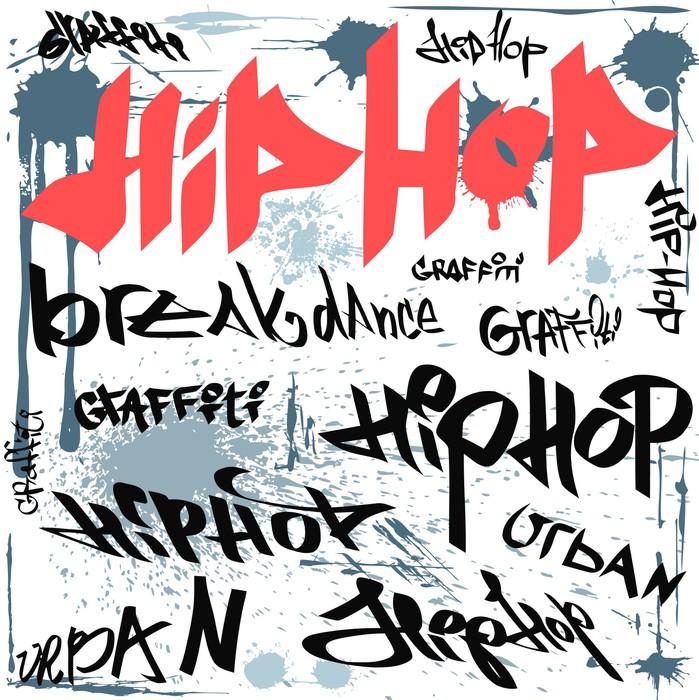 papier peint hip hop graffiti vecteur de fond urbain. Black Bedroom Furniture Sets. Home Design Ideas