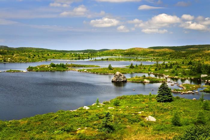 Vinylová Tapeta Krásná Lake Shore v Newfoundland - Amerika
